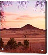 Haystack Mountain - Boulder County Colorado -  Sunset Evening Acrylic Print
