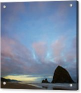 Haystack Rock Morning Acrylic Print