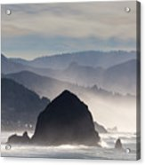 Haystack Rock On The Oregon Coast In Cannon Beach Acrylic Print