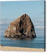 Haystack Rock - Pacific City Oregon Coast Acrylic Print