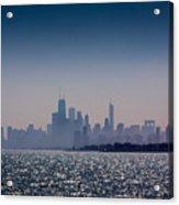 Hazy Chicago Acrylic Print