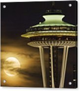 Hazy Full Moon A144 Acrylic Print