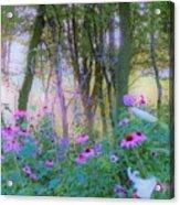Hazy Garden Sunrise Acrylic Print