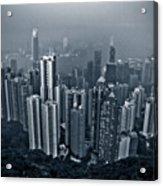 Hazy Hong Kong Acrylic Print