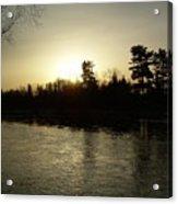 Hazy Mississippi River Sunrise Acrylic Print