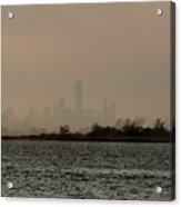 Hazy New York Acrylic Print