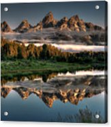 Hazy Reflections at Scwabacher Landing Acrylic Print