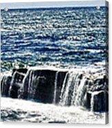 hd 347 The Rock hdr Acrylic Print