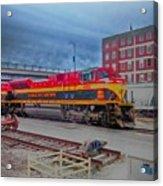 Hdr Fun With Trains Acrylic Print