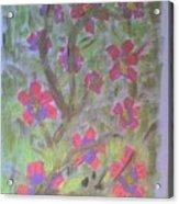 Hds-acrylic Floral Green Acrylic Print