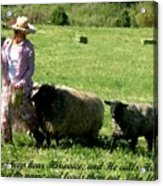 He Calls His Own Sheep By Name Acrylic Print