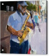 He Was Playing Real Good For Free Acrylic Print