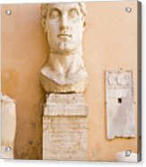 Head From The Statue Of Constantine, Rome, Italy Acrylic Print