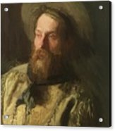 Head Of A Cowboy Acrylic Print