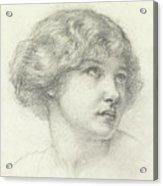 Head Of A Girl  Acrylic Print
