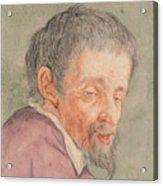 Head Of A Man With A Short Beard Acrylic Print