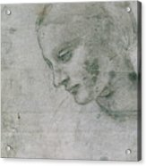 Head Of A Young Woman Or Head Of The Virgin Acrylic Print