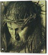 Head Of Christ Acrylic Print by Franz Von Stuck