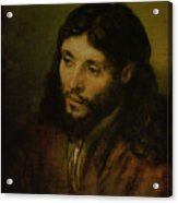 Head Of Christ Acrylic Print by Rembrandt