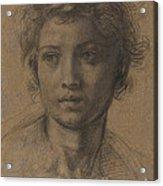 Head Of Saint John The Baptist Acrylic Print