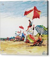 Head  Of The Meadow Beach, Afternoon Acrylic Print