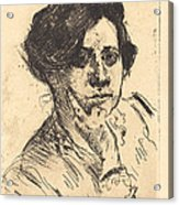 Head Of Woman (frauenkopf) Acrylic Print