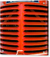 Head On To An Old Case Tractor Grill In Classic Orange Paint Acrylic Print