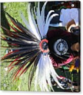 Head Piece Dancer Day Of The Dead  Acrylic Print