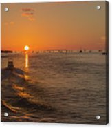 Heading Into The Sunset Acrylic Print