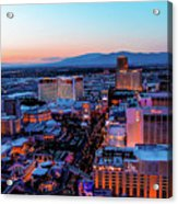Heading North On The Strip Acrylic Print