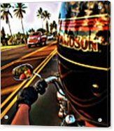 Heading Out On Harley Acrylic Print