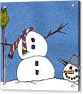 Headless Snowman Acrylic Print
