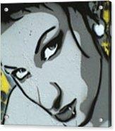 Headshot Of A Young Woman Acrylic Print