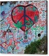 Healthy Graffiti Acrylic Print