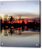 Hearns Pond Silhouette Acrylic Print