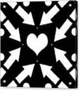Heart And Arrows Acrylic Print
