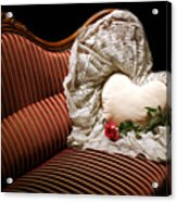 Heart And Rose Victorian Style Acrylic Print