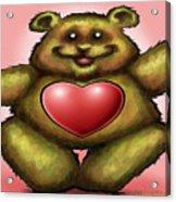 Heart Bear Acrylic Print