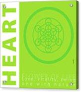 Heart Chakra Series Three Acrylic Print