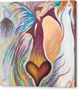 Heart Goddess Acrylic Print