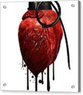 Heart Grenade Acrylic Print