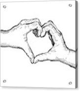Heart Hands Acrylic Print
