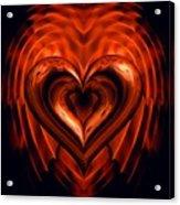 Heart In Flames Acrylic Print