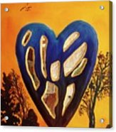 Heart In Glory Acrylic Print