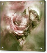 Heart Of A Rose - Antique Pink Acrylic Print