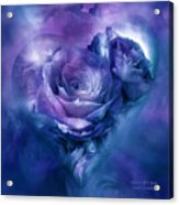 Heart Of A Rose - Lavender Blue Acrylic Print
