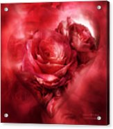Heart Of A Rose - Red Acrylic Print