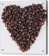 Heart Of Coffee Beans Acrylic Print