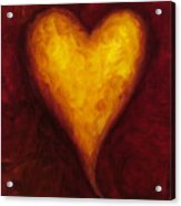 Heart Of Gold 1 Acrylic Print