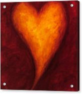 Heart Of Gold 2 Acrylic Print